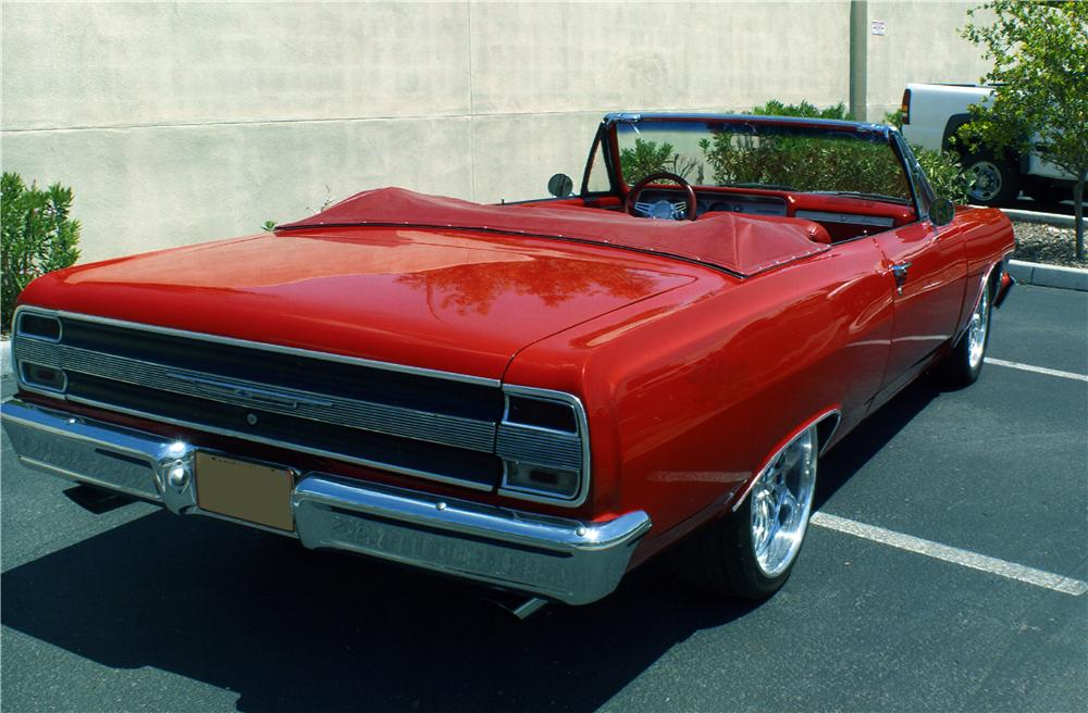 1964 CHEVROLET MALIBU CUSTOM CONVERTIBLE - Rear 3/4 - 177543