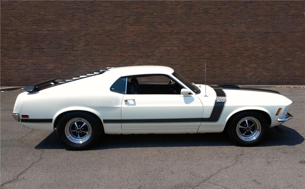 1970 FORD MUSTANG BOSS 302 FASTBACK - Side Profile - 177545