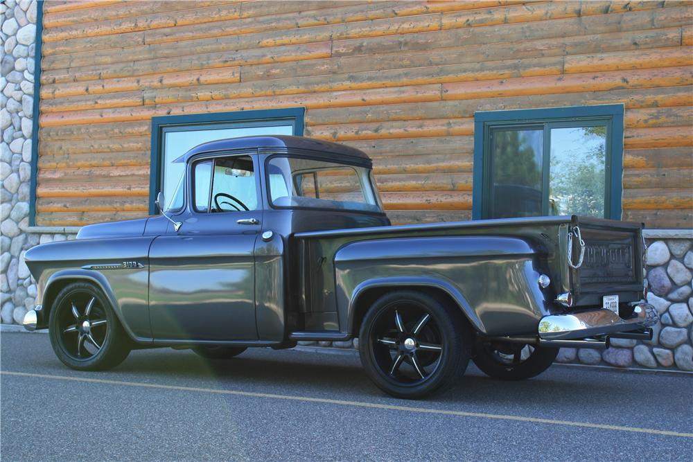 1955 CHEVROLET 3100 CUSTOM PICKUP - Rear 3/4 - 177554