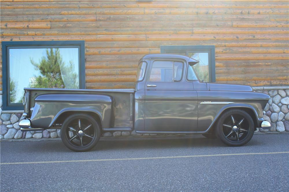 1955 CHEVROLET 3100 CUSTOM PICKUP - Side Profile - 177554
