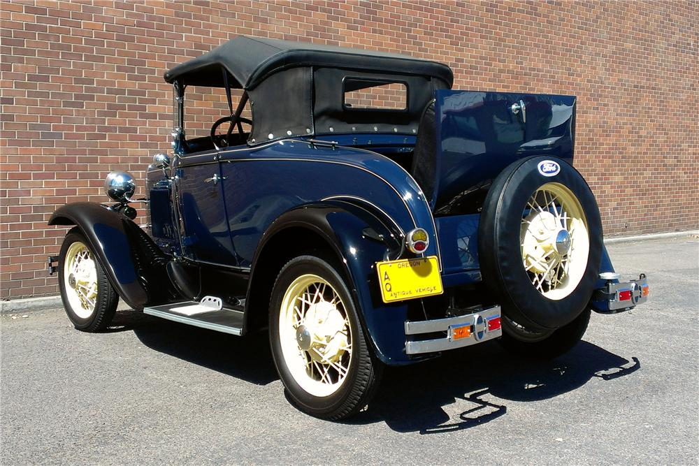 1930 FORD MODEL A ROADSTER - Rear 3/4 - 177565