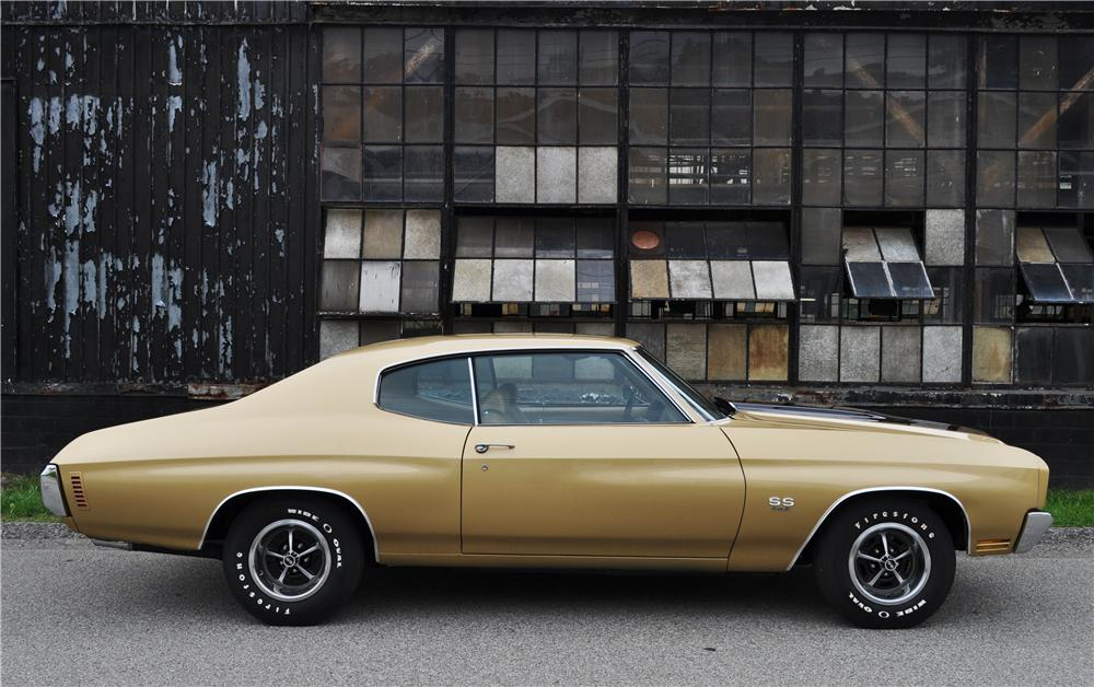 1970 CHEVROLET CHEVELLE SS 396 2 DOOR COUPE - Side Profile - 177569