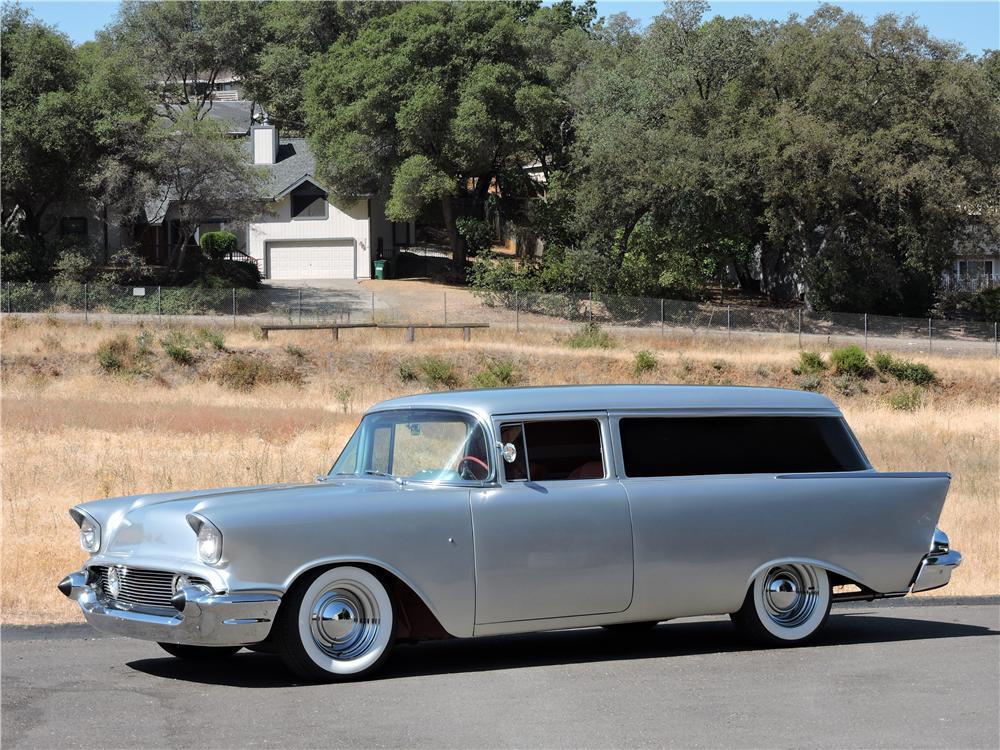 1957 CHEVROLET 210 CUSTOM 2 DOOR  WAGON - Side Profile - 177631