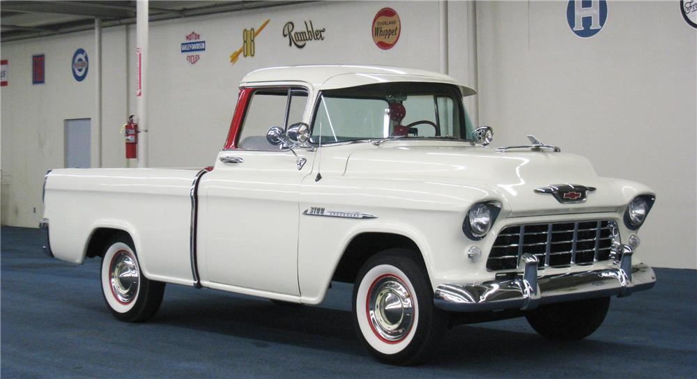 1955 CHEVROLET CAMEO PICKUP - Front 3/4 - 177637
