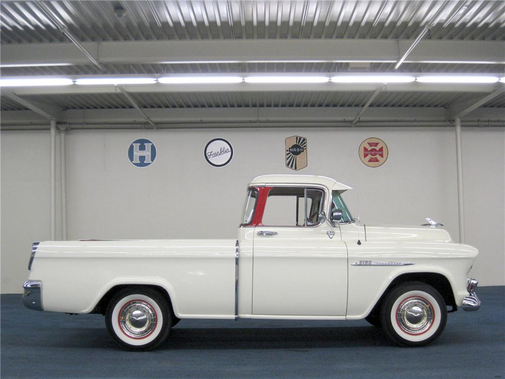 1955 CHEVROLET CAMEO PICKUP - Side Profile - 177637