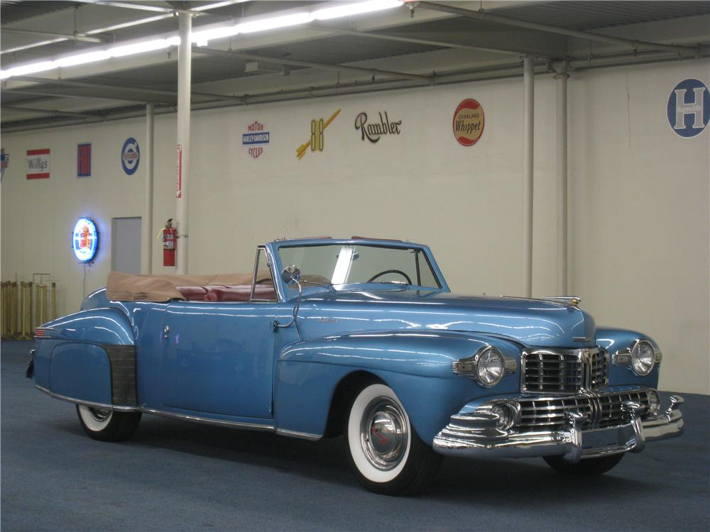 1948 LINCOLN CONTINENTAL CONVERTIBLE - Front 3/4 - 177642