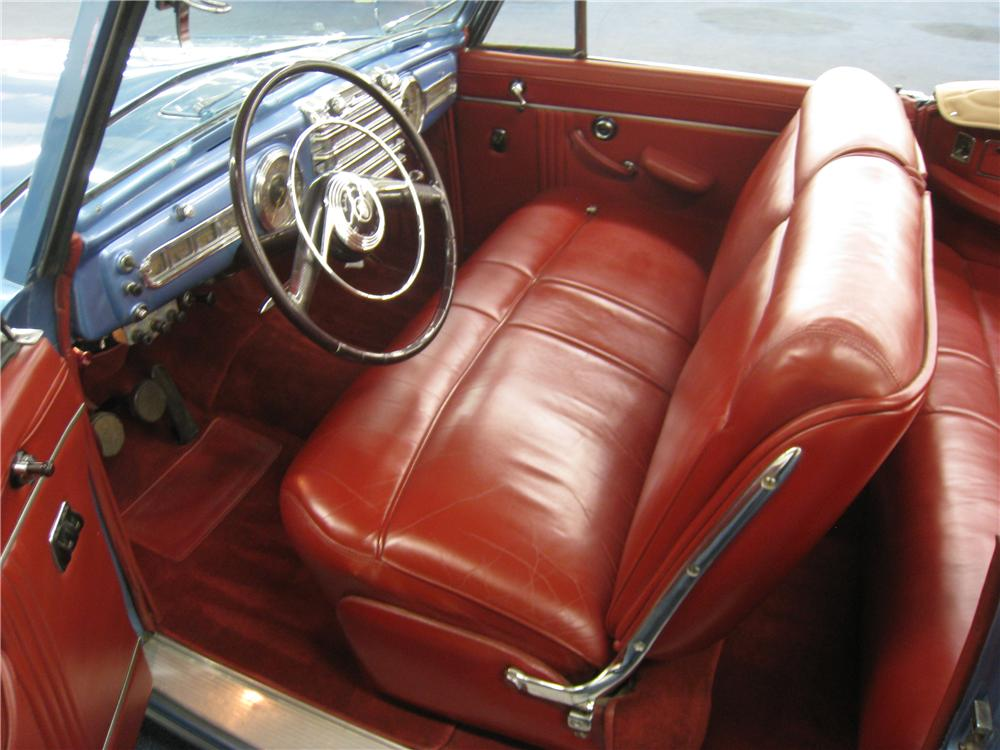 1948 LINCOLN CONTINENTAL CONVERTIBLE - Interior - 177642