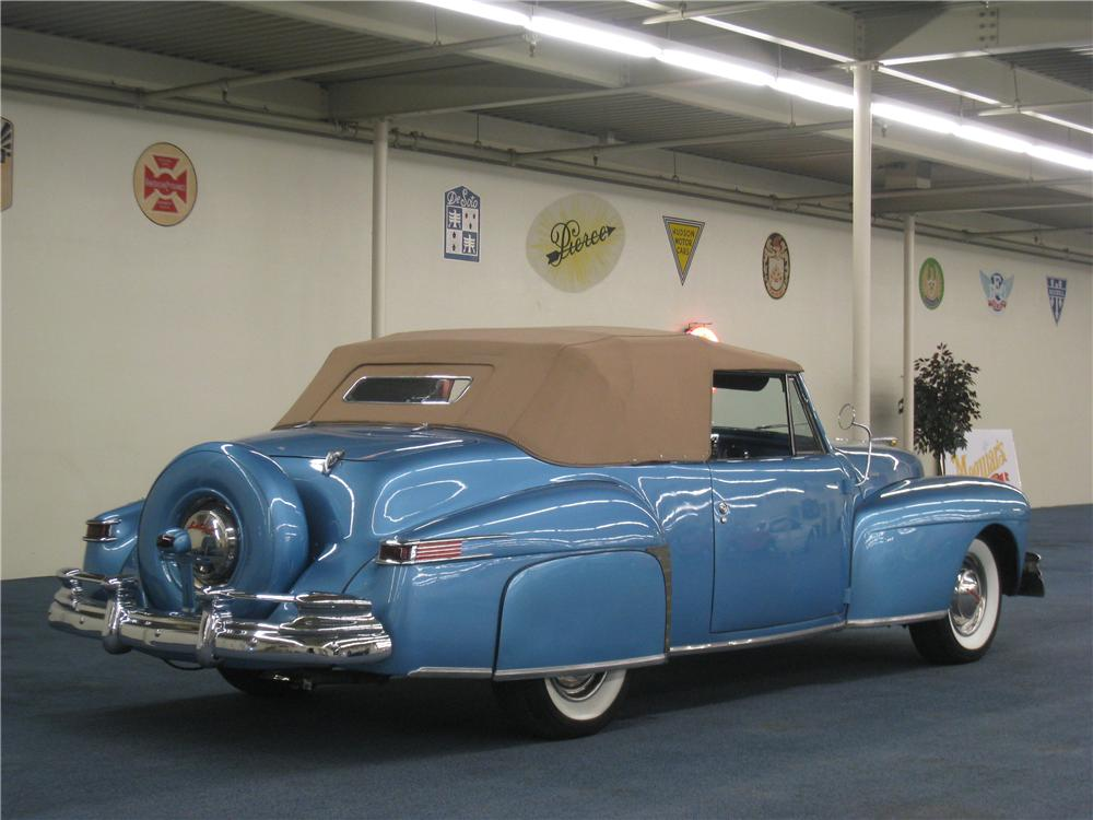 1948 LINCOLN CONTINENTAL CONVERTIBLE - Rear 3/4 - 177642