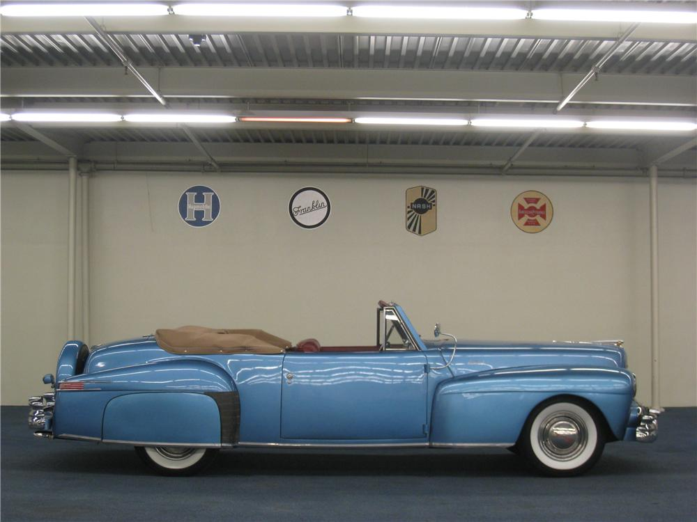 1948 LINCOLN CONTINENTAL CONVERTIBLE - Side Profile - 177642