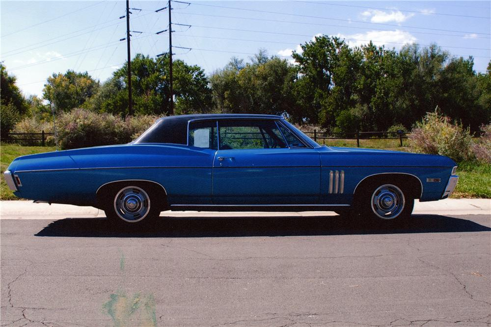 1968 CHEVROLET IMPALA SS 2 DOOR COUPE - Side Profile - 177660