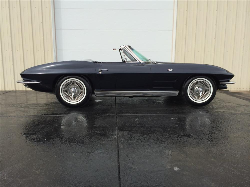 1963 CHEVROLET CORVETTE CONVERTIBLE - Side Profile - 177694