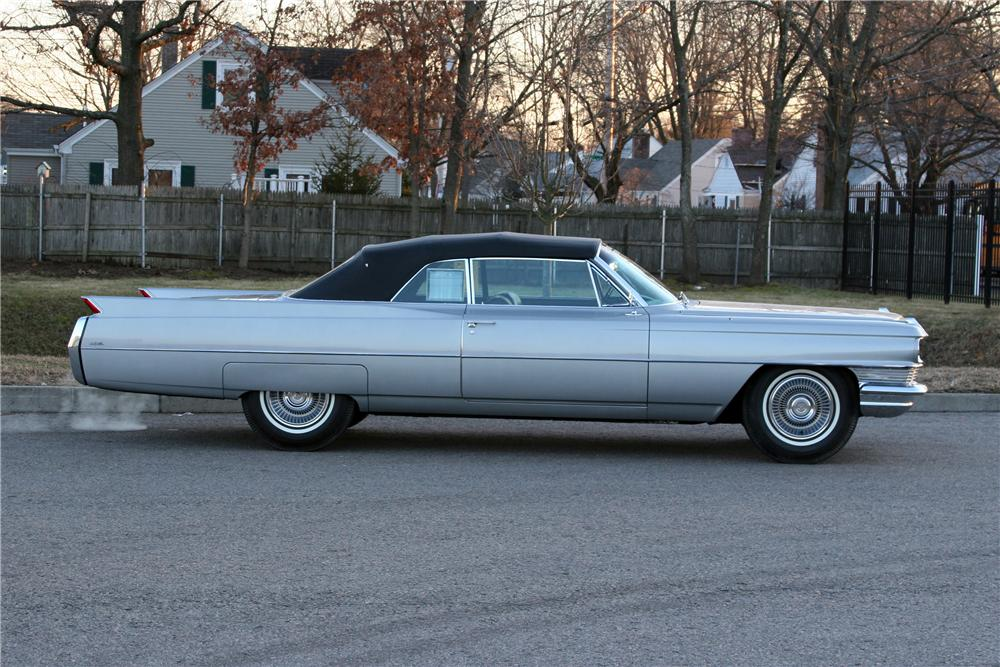 1964 CADILLAC DE VILLE CONVERTIBLE - Side Profile - 178010