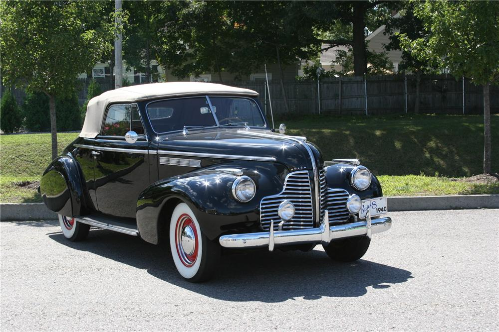 1940 BUICK SPECIAL CONVERTIBLE - Front 3/4 - 178012