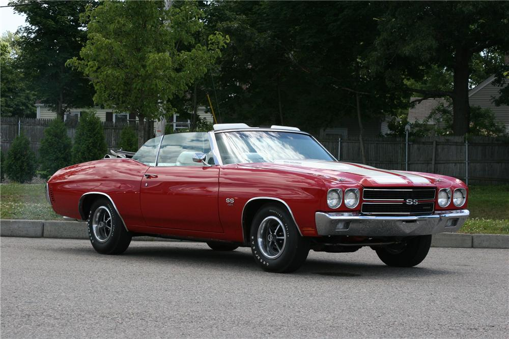 1970 CHEVROLET CHEVELLE SS CONVERTIBLE - Front 3/4 - 178014