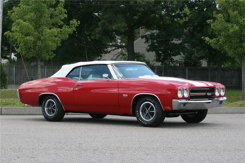 1970 CHEVROLET CHEVELLE SS CONVERTIBLE - Side Profile - 178014