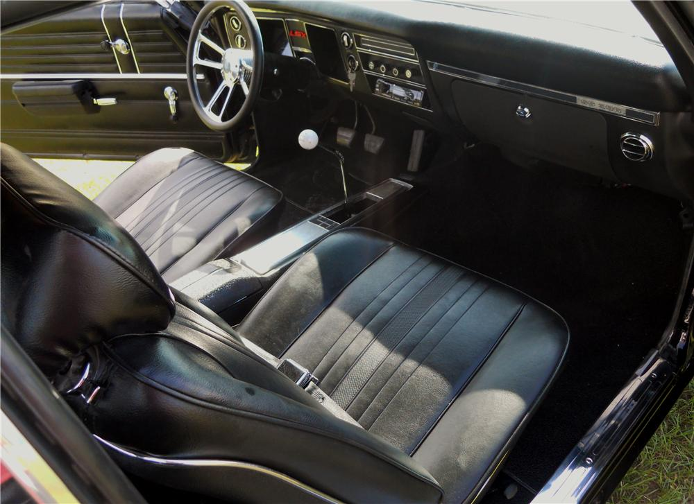 1968 CHEVROLET CHEVELLE SS CUSTOM 2 DOOR COUPE - Interior - 178023