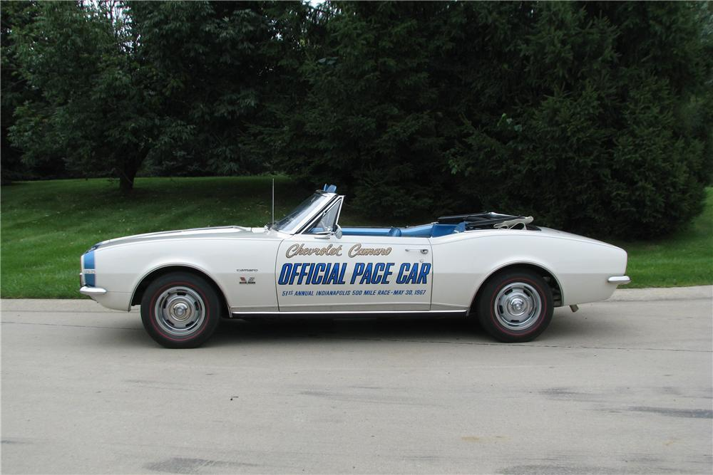 1967 CHEVROLET CAMARO RS PACE CAR CONVERTIBLE - Side Profile - 178030