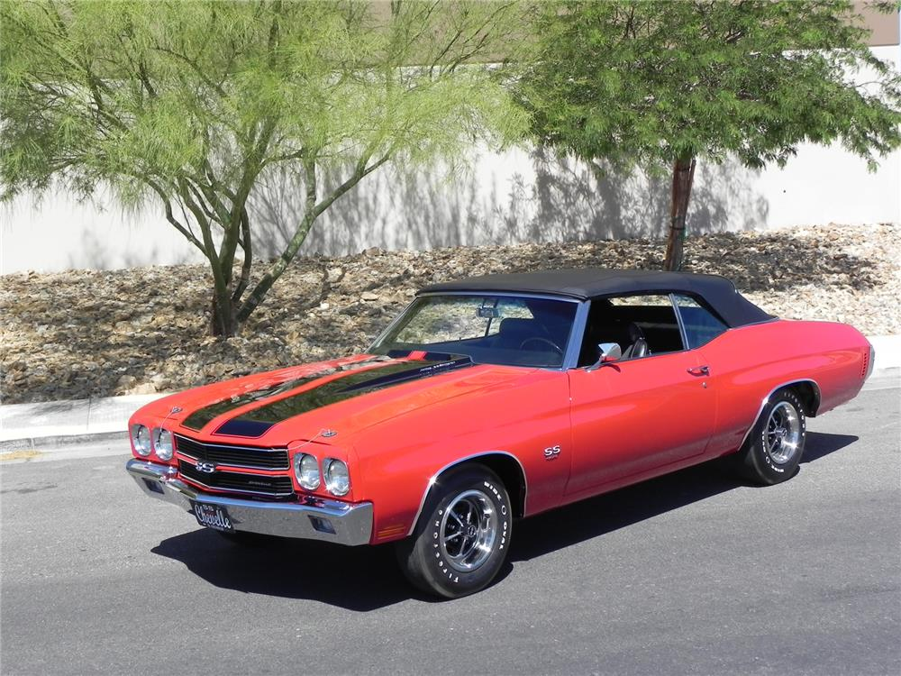 1970 CHEVROLET CHEVELLE SS LS6 CONVERTIBLE - Side Profile - 178472