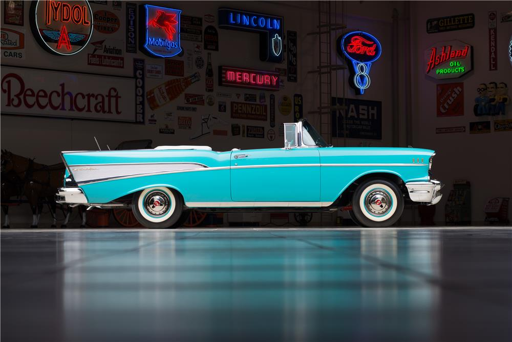 1957 CHEVROLET BEL AIR CONVERTIBLE - Side Profile - 178543