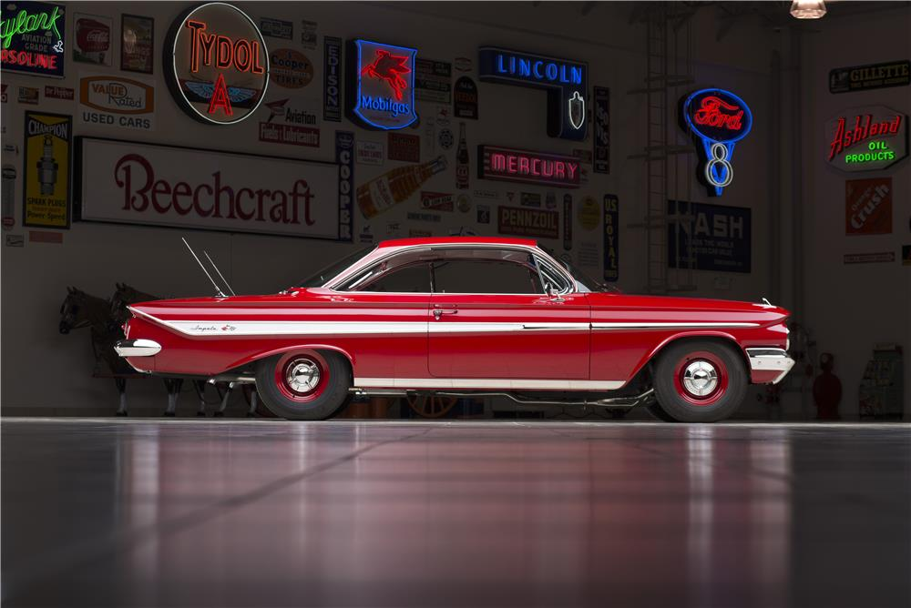 1961 CHEVROLET IMPALA CUSTOM BUBBLE TOP - Side Profile - 178546