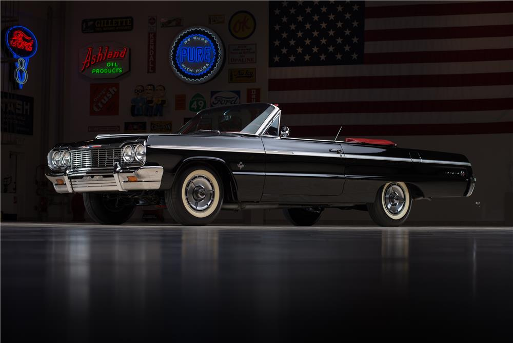 1964 CHEVROLET IMPALA SS 409 CONVERTIBLE - Front 3/4 - 178549