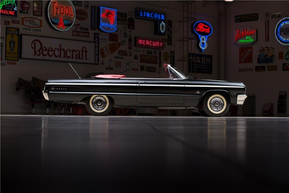 1964 CHEVROLET IMPALA SS 409 CONVERTIBLE - Side Profile - 178549