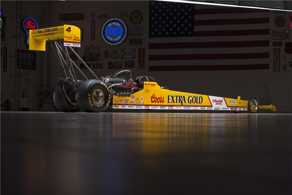1990 COORS EXTRA GOLD TOP FUEL DRAGSTER REPLICA - Rear 3/4 - 178561