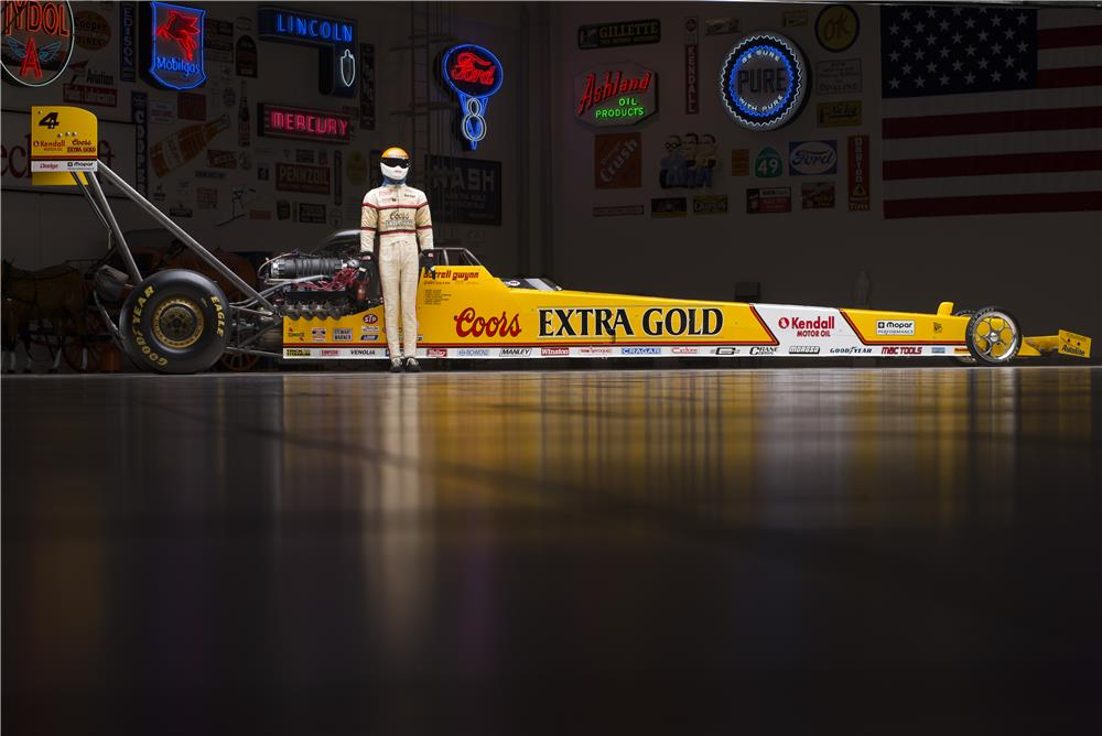 1990 COORS EXTRA GOLD TOP FUEL DRAGSTER REPLICA - Side Profile - 178561