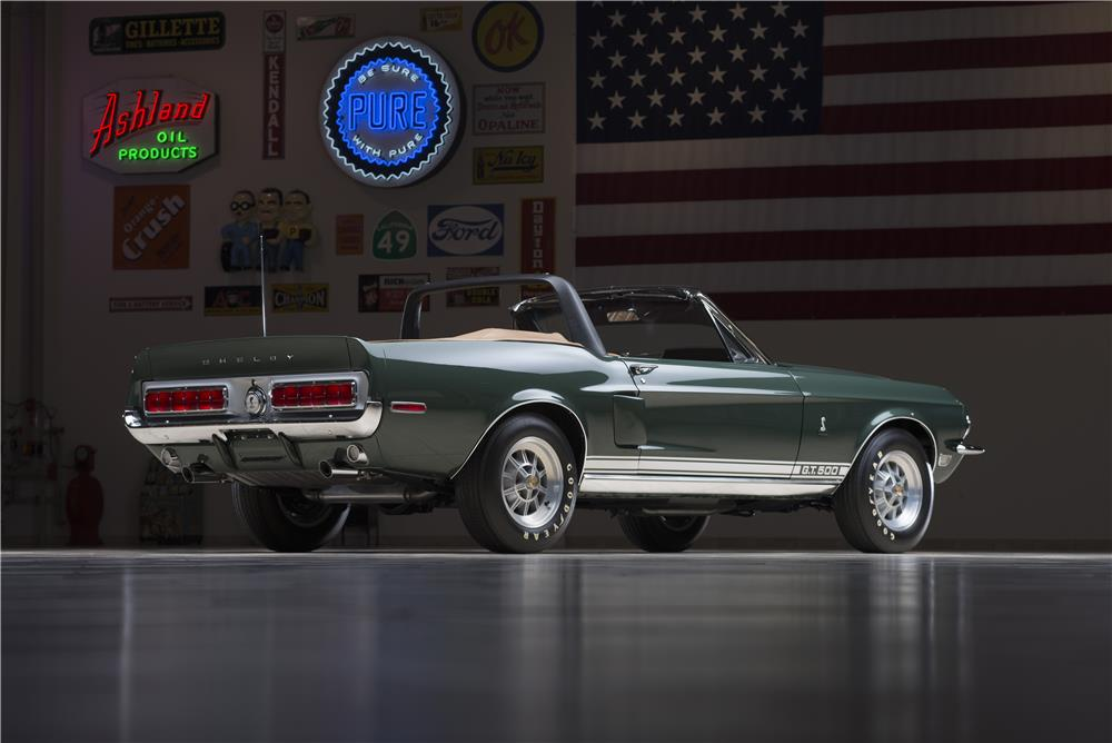 1968 SHELBY GT500 CONVERTIBLE - Rear 3/4 - 178580
