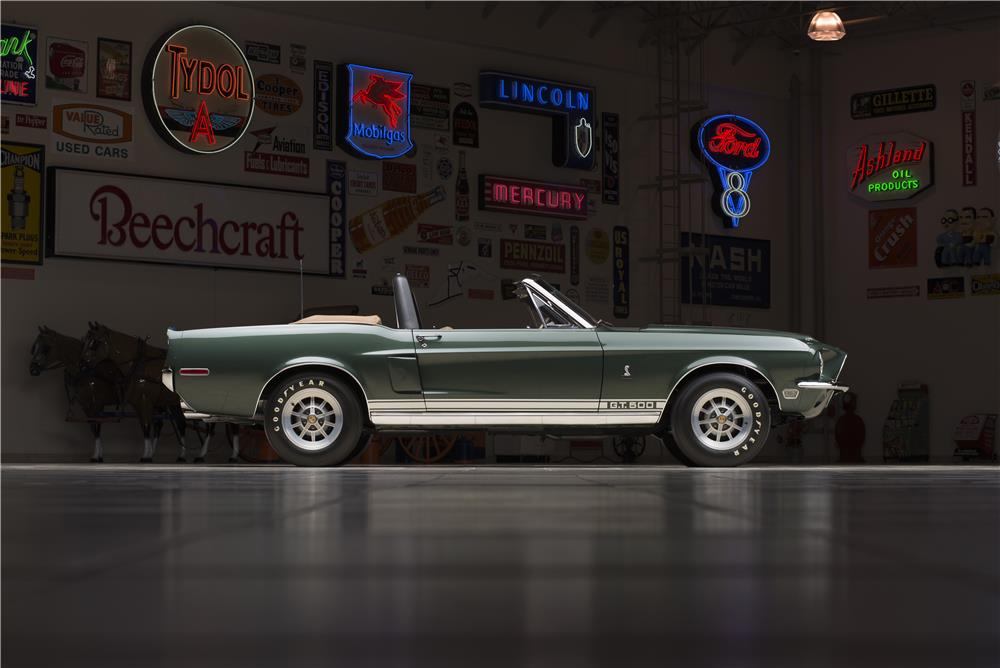 1968 SHELBY GT500 CONVERTIBLE - Side Profile - 178580