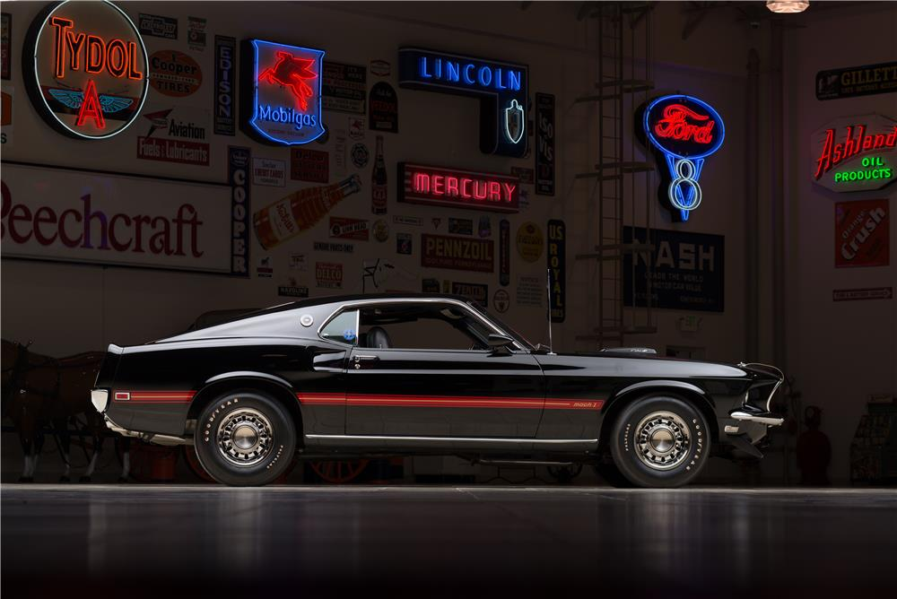 1969 FORD MUSTANG MACH 1 FASTBACK - Side Profile - 178581