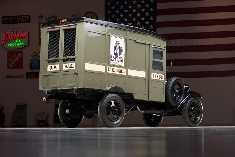 1931 FORD MODEL AA POSTAL DELIVERY TRUCK - Rear 3/4 - 178609