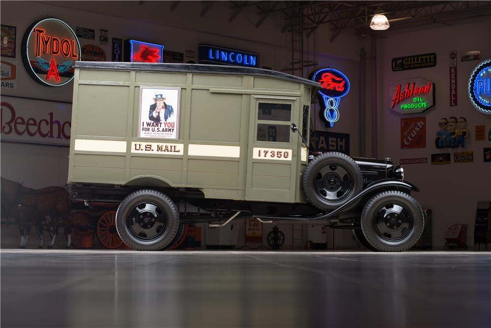 1931 FORD MODEL AA POSTAL DELIVERY TRUCK - Side Profile - 178609