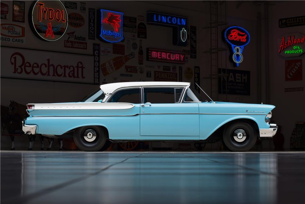 1957 MERCURY MONTEREY 2 DOOR SEDAN - Side Profile - 178635