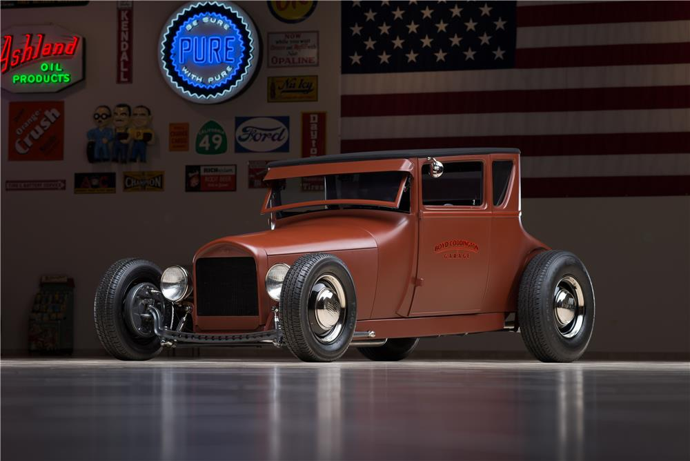 1927 FORD MODEL T COUPE RAT ROD - Front 3/4 - 178653