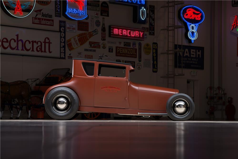 1927 FORD MODEL T COUPE RAT ROD - Side Profile - 178653