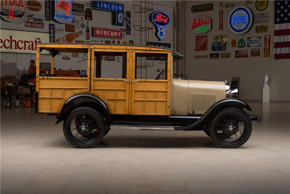 1929 FORD MODEL A STATION WAGON WOODY - Side Profile - 178654