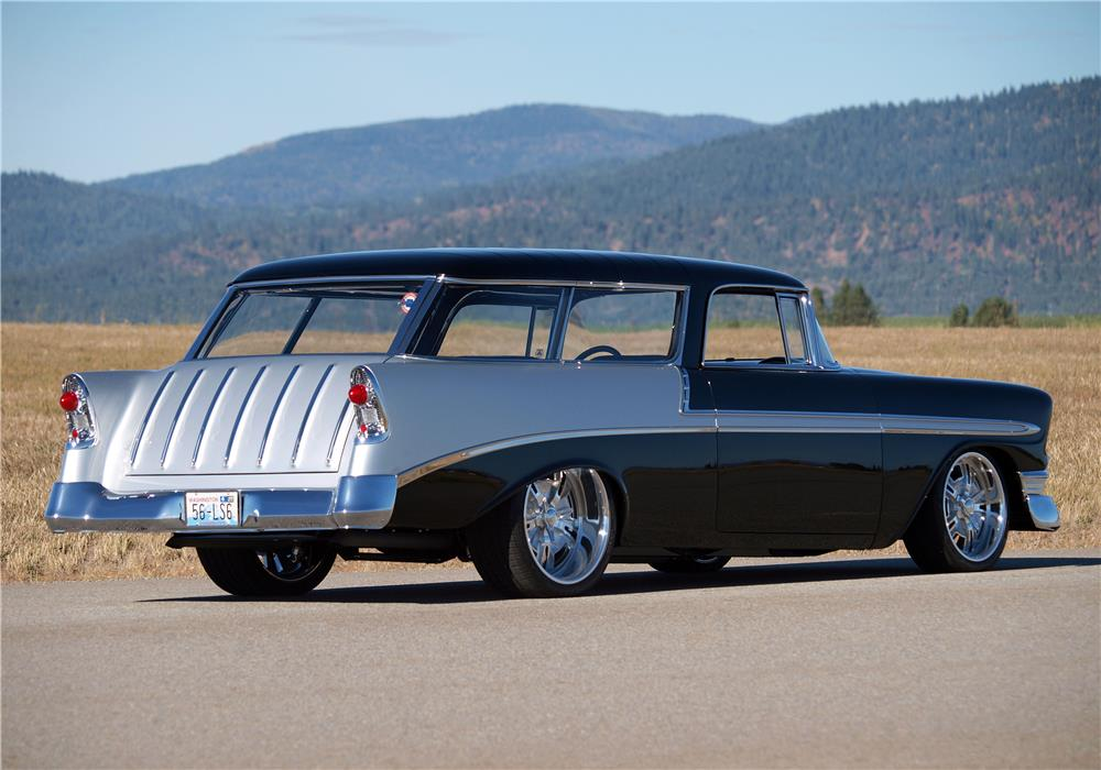 1956 CHEVROLET NOMAD CUSTOM WAGON - Rear 3/4 - 178675