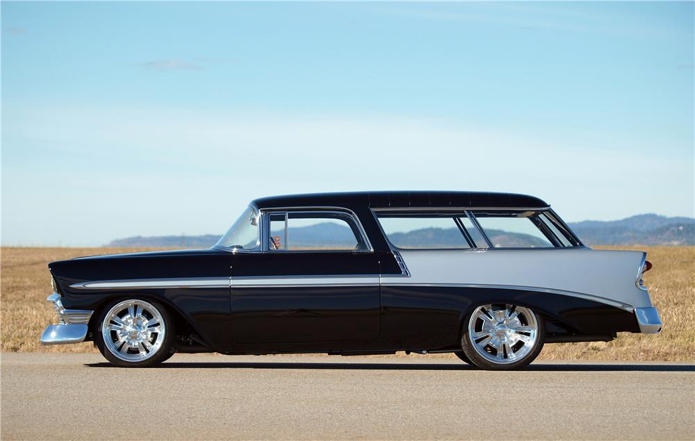 1956 CHEVROLET NOMAD CUSTOM WAGON - Side Profile - 178675