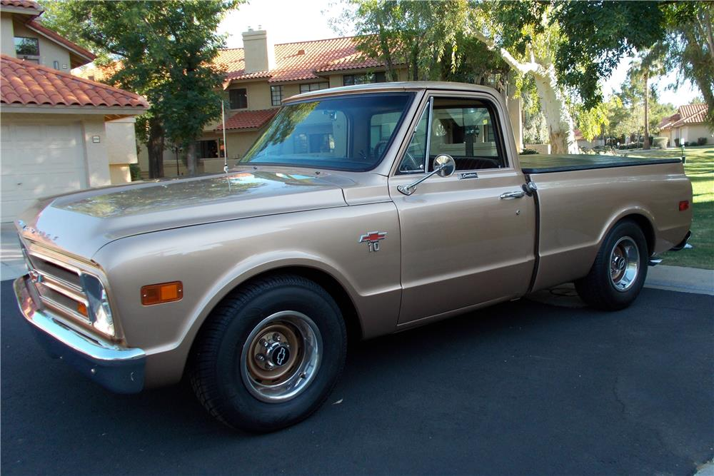 1968 CHEVROLET C-10 PICKUP - Side Profile - 178678
