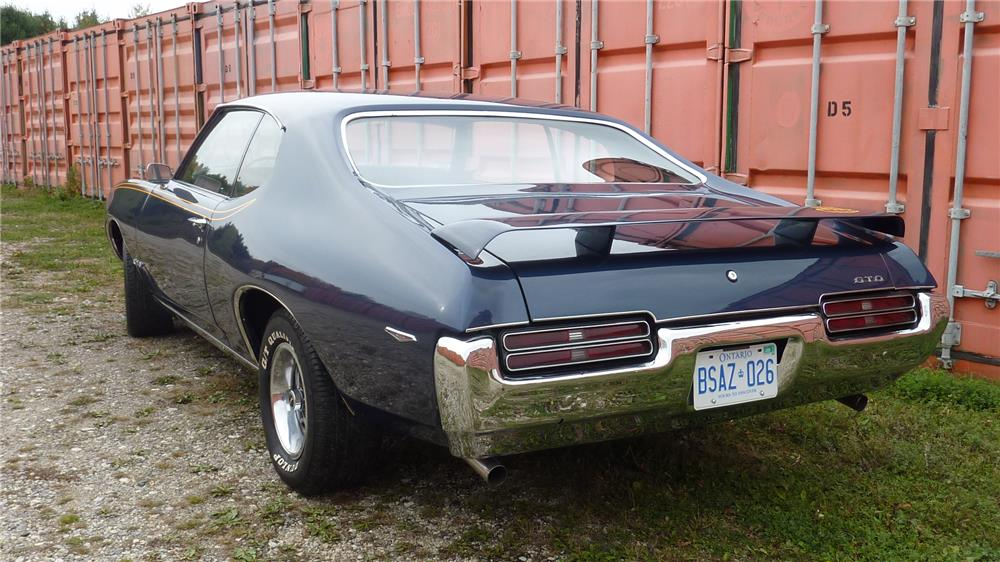 1969 PONTIAC GTO JUDGE - Rear 3/4 - 178696