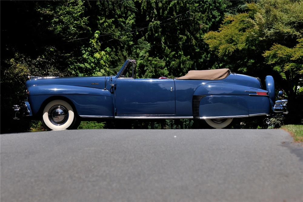 1948 LINCOLN CONTINENTAL CONVERTIBLE - Side Profile - 178709