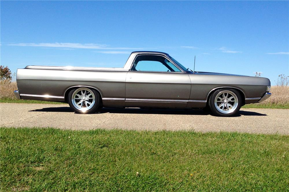 1969 FORD RANCHERO CUSTOM PICKUP - Side Profile - 179903
