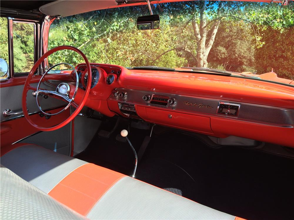 1957 CHEVROLET BEL AIR CONVERTIBLE - Interior - 179969