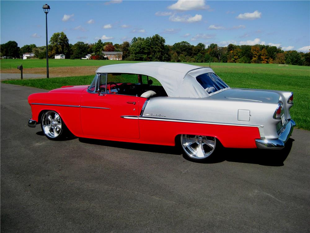 1955 CHEVROLET BEL AIR CUSTOM CONVERTIBLE - Side Profile - 179996