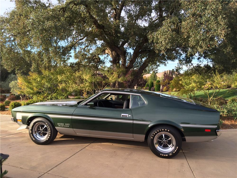 1971 FORD MUSTANG BOSS 351 FASTBACK - Side Profile - 180000
