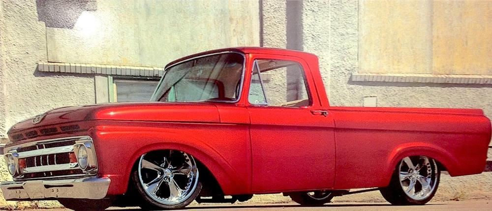 1962 FORD F-100 CUSTOM PICKUP - Front 3/4 - 180007