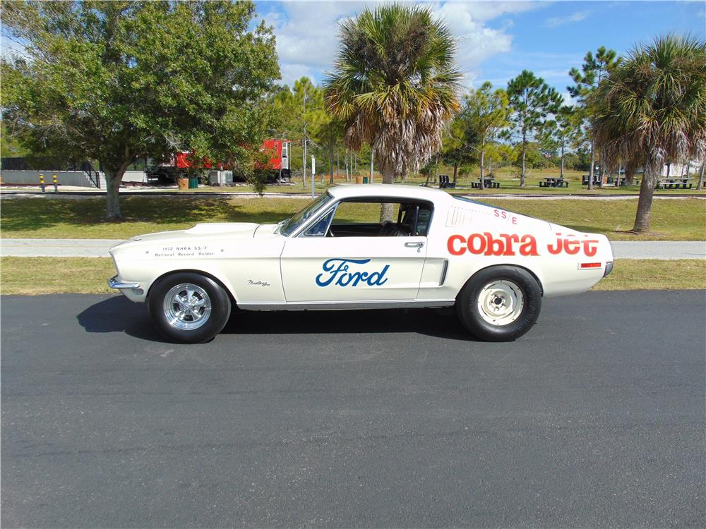 "1968 FORD MUSTANG 428 CJ ""R"" FASTBACK - Side Profile - 180019"