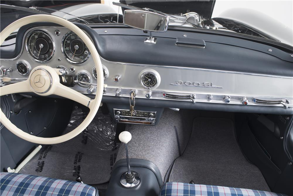 1955 mercedes benz 300sl gullwing interior 180023