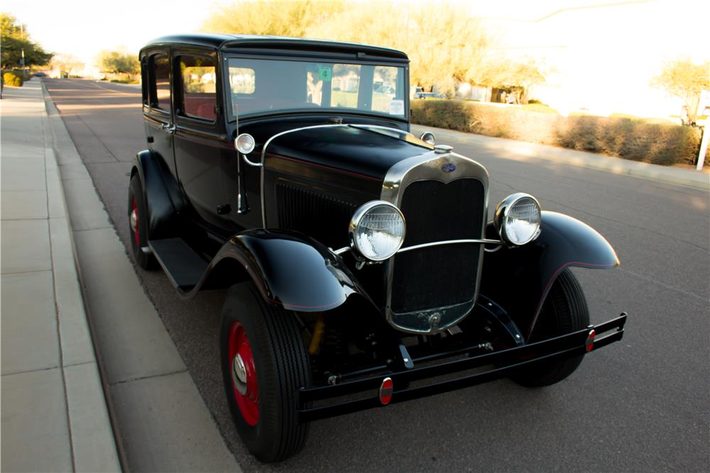 1931 FORD MODEL A CUSTOM 4 DOOR SEDAN - Front 3/4 - 180030